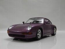 Burago 1:24 1993 Porsche 911 Carrera Coche Deportivo Clásico Modelo réplica púrpura