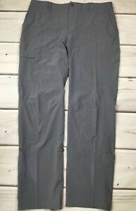 REI Women's Sahara Gray Convertible Hiking Roll Up Cargo Pants Size 14