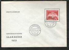 Deutsche Briefmarken des Saarland (1947-1959) aus Einzelmarke und Danzig, Memel, Saar mit Ersttagsbrief
