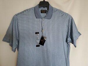 Donald J. Trump Signature Collection Polo Shirt Men's Size XL Blue Check - NEW