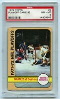 1972-73 Topps #3 Playoff Game 2 Bruins 2 Rangers 1 Graded 8.0 NM-MT (2021-01)