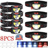 90000LM Motion Sensor LED Headlamp Headlight USB Rechargeable Head Torch