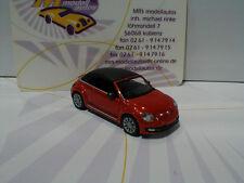 "Wiking 0028 48 # VW the beetle convertible año de fabricación 2011 en ""naranja-metallic"" 1:87 nuevo"