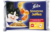 Felix Purina Sensations Jellies Beef & Chicken Packets Pet Food 3x4x100 g