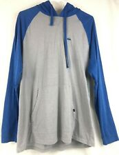 Quiksilver Mens Blue/Gray Long Sleeve Hooded Pullover Sweatshirt Size L