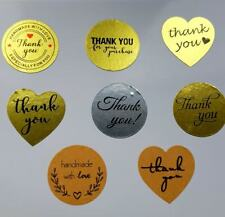 "20 x Thank You Stickers 25 mm (1"") Heart Birthday Wedding Mothers *FREE POSTAGE*"