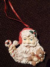 VINTAGE molto raro da appendere addobbo albero di Natale-Babbo Natale Teddy CANNA DA ZUCCHERO-RARO