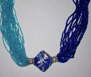 Murano Glass Pendant Necklace statement
