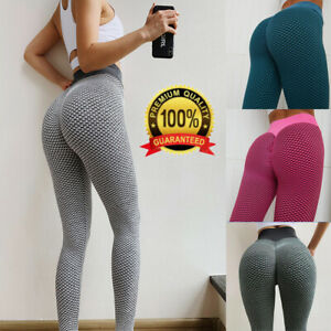 Women Ticktock High Waist Yoga Pants Anti Cellulite Leggings Butt Lift Sport Gym