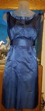 Simple Silhouettes New Gorgeous Blue Silk Tea Dress Size 4