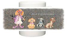 DOG BEST DOG GROOMER FUN ILLUSTRATION MUG PRINT PERSONALISED SANDRA COEN ART