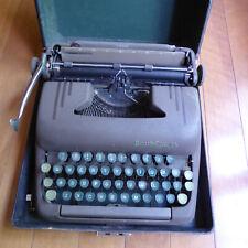 Vintage Smith Corona Portable Typewriter - SILENT - green keys, black case