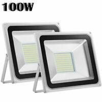 2x 100W LED Floodlight Cool White Outdoor Security Lighting Garden Yard Lamp NEW