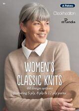 PATONS CLECKHEATON PANDA - WOMEN'S CLASSIC KNITS PATTERN BOOK #301