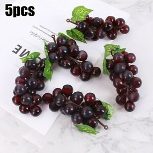 Artificial Grape Fake Fruit Leaf Plant Lifelike Home Office Party Decorations