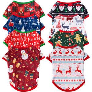 Pet Puppy Dog/Cat's Shirt Clothes Costumes Pullover Coat Apparel Christmas Xmas