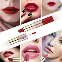 2 in1 12 Colors Matte Waterproof Liquid Lipstick Lip Gloss Cosmetics Makeup Tool