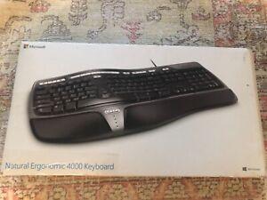 NIB Microsoft Natural Ergonomic Keyboard 4000 Model 1048 B2M-00012