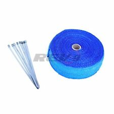 "BLUE TURBO EXHAUST HEADER MANIFOLD THERMAL HEAT WRAP 2"" x 35 FEET RACING GT JDM"