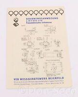 Bedienungsanleitung Fotelektrische Initiatoren. VEB Messgerätewerk Beierfeld