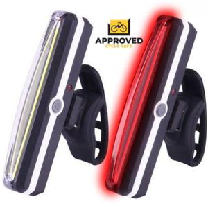 Rear Bike Lights Back Bicycle Light Set LED Front USB Rechargeable Waterproof UK