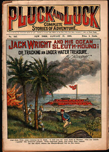 dime novel: PLUCK AND LUCK #242: Jack Wright and His Ocean Sleuth-Hound; or, Tra