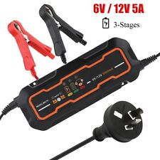 5000mA 6V&12V Automotive Trickle Battery Charger Maintainer for Car Motorcycle