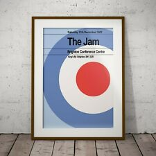 More details for the jam 1982 last concert weller three print options or framed poster exclusive