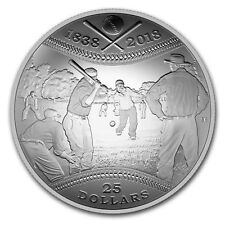 2018 Canada 1 oz Silver $25 180th Anniversary of Baseball - SKU#163655