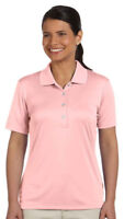 Ashworth Womens Performance Interlock Solid Golf Polo Shirt S-2XL 3050-CLOSEOUT