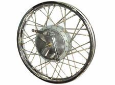 """NEW ROYAL ENFIELD COMPLETE FRONT WHEEL RIM 19"""" & 40 HOLES WITH DRUM PLATE"""