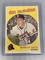 Don McMahon 1959 Topps Baseball #3 Milwaukee Braves