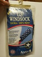 U.s. Windsock Premium Quality 5 X 36 In 100% Nylon. Made In The USA