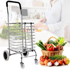 Super light Aluminum Fordable Swivel Wheel Grocery Laundry Shopping Cart 50lbs