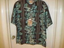 It's 5 O'Clock Somewhere $88 Colorful Hawaiian Shirt Size XL NEW 100% Silk Shirt