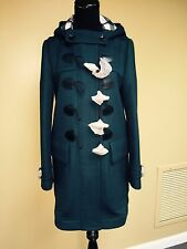 NWT Burberry Brit STRAIGHT FIT DUFFLE COAT SIZE 8 REATIL $1095