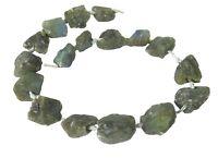 😏 Labradorit Perlen naturbelassene Nuggets Strang Edelsteinperlen für Kette 😉