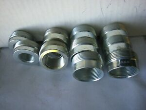 "10 Mixed Killark Adapter Bushings Hubbell 6-1-1/4"" X 1-1/2"" &2-1-1/2x3/4""-2-11/2"
