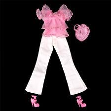 Barbie Doll Daily Casual Wear Clothes Blouse Pants Trousers Handbags Shoes SEAU