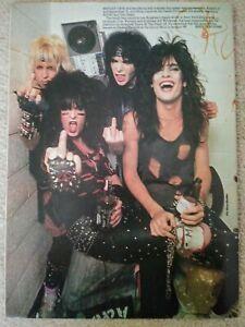 MOTLEY CRUE-KERRANG!  UK Rock Magazine (1984) (JAPANESE HEAVY METAL)