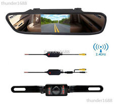 "Car Wireless 4.3"" Screen Rear View Backup Mirror Monitor Reverse IR CMOS Camera"