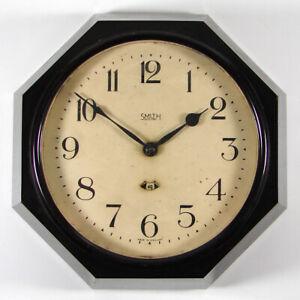 SMITHS ELECTRIC vintage Art Deco octagonal bakelite wall clock 1931 to 1936