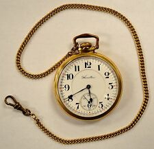 1914 Hamilton 21 Jewel 10k Gold-Filled Pocket Watch Montgomery Dial 992 Movement