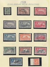 Gibraltar 1938-51 set of 14 SG121-131  Mixed Mounted Mint and Used