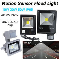 LED Flood Lights Motion Sensor 10W/30W/50W High Lighting PIR 110V 220V