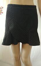 BCBG Max Azria mini pinstriped Skirt Black Lined Size 2