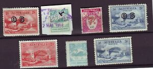"OLD BRITISH COMMONWEALTH "" DOWN UNDER """"   POSTAGE & REVENUE  USED & MINT = 7"