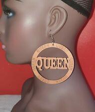 African wooden earring|Stylish  Queen wooden earring|Brown|8cm