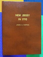 RARE genealogy interest Militia census NEW JERSEY IN 1793 large hardback