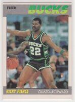 1987-88  RICKY PIERCE - Fleer Basketball Card # 87 - Milwaukee Bucks